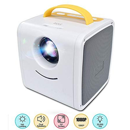 Мини проектор Kids Story Projector Q2 Бело-жёлтый