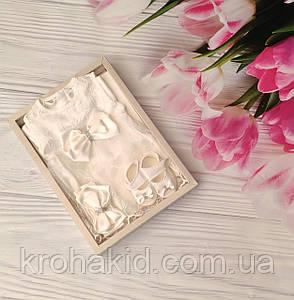 Набор одежды для новорожденного на выписку из роддома для девочки в подарочной упаковке, фото 2