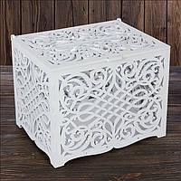 Свадебный деревянный сундук 27х21х20 см, арт. SD-00021