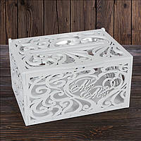 "Свадебный деревянный сундук ""Mr Mrs"" 30х21х16 см, арт. SD-00104"