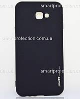 Накладка силиконовая для Samsung J4 Plus черный SMTT Soft Touch
