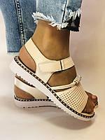 Хіт! Жіночі босоніжки на низькій платформі.Бежевий.Натуральна шкіра.Туреччина.Mario Muzi. Розмір 36 - 40. Vellena, фото 4