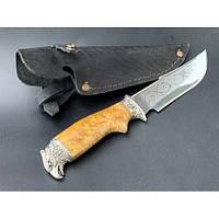 Нож охотничий Nb Art Орел 22k18 подарочный нож для охотника рыбака в чехле в ножнах