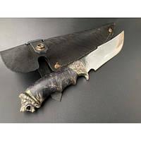 Нож охотничий Nb Art Лев 22k15 подарочный нож для охотника рыбака в чехле в ножнах