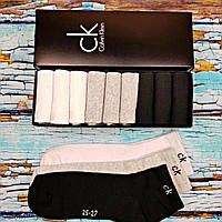 Мужские носки  Calvin Klein - 9 шт в фирменной подарочной коробке упаковке кельвин кляйн
