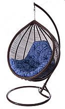 Підвісне садове крісло гойдалка кокон крапля куля плетене з ротанга Українські Конструкції Кіт / Kit