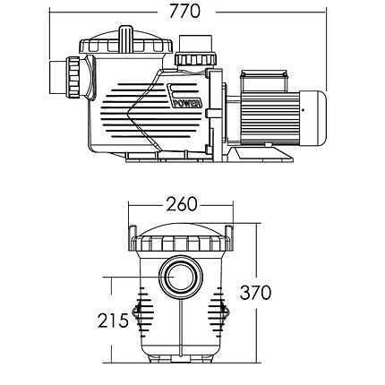 Насос Emaux EPH300 (380В, 32 м3/ч, 3HP), фото 2