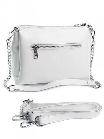 Жіноча шкіряна сумка біла A7228 белая, фото 2