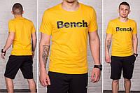 Футболка принт Bench желтый