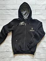 Кофты с капюшоном мужские теплые на флисе 46р