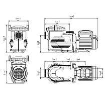 Насос Emaux EPV150 (220В, 25м3/ч, 1.5HP) с пер. скор., фото 3