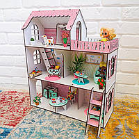 Кукольный домик NestWood Мини Дача для ЛОЛ с мебелью Розовый (kdl008)