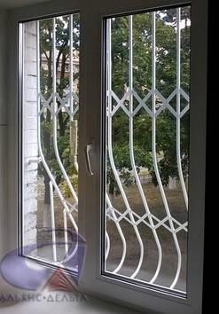 Решетка на окно выпуклая, луковица Шир.1500*Выс.1700мм