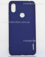 Бампер силиконовый для Xiaomi S2 синий  SMTT Soft Touch