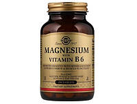 Магний Solgar Magnesium with Vitamin B6 250 таб