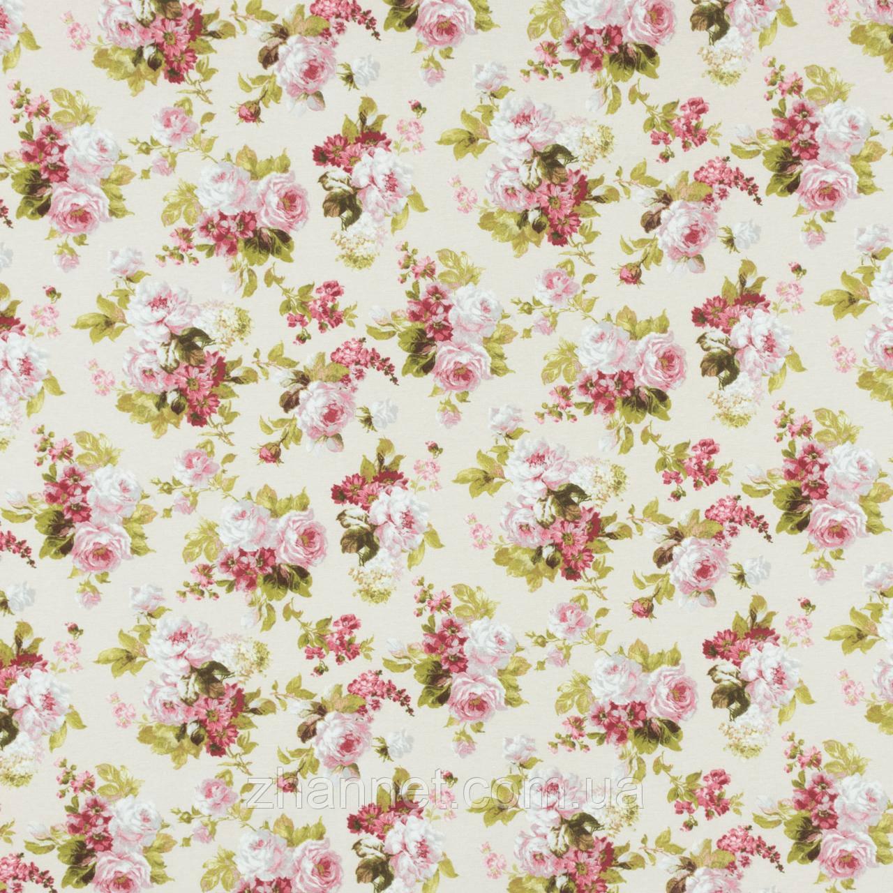 Ткань для штор Floral Букет цветов молочный (571161)