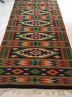 Доріжка ткана шерстяна гуцульський орнамент ручної роботи 277*144 см