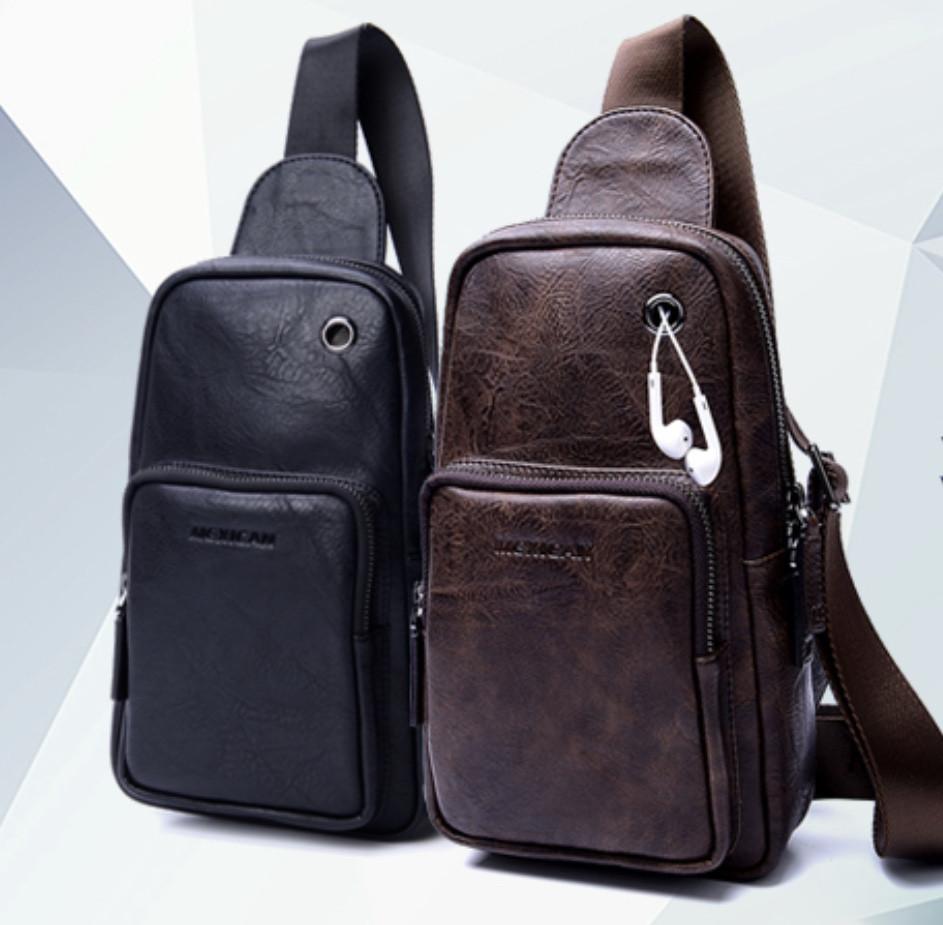 Мужская кожаная сумка. Модель 61330
