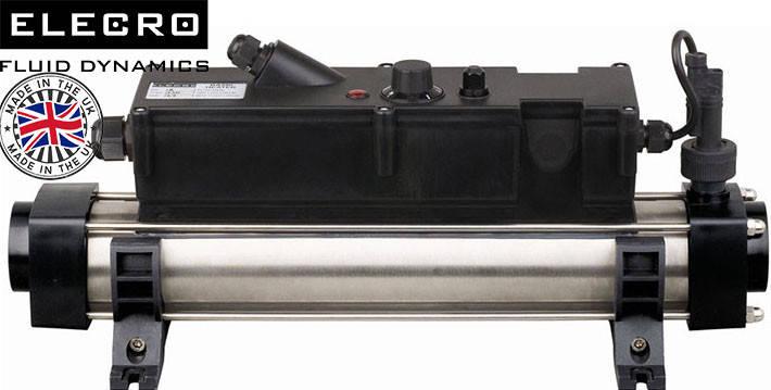 Elecro Flow Line 803B Incoloy/Steel 3 кВт 230В электронагреватель для бассейна , фото 2