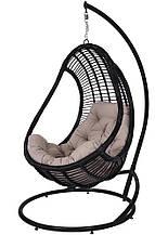 Підвісне садове крісло гойдалка кокон крапля куля плетене з ротанга Українські Конструкції Комфорт / Komfort