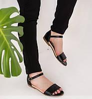 Черные женские кожаные босоножки 36-41р