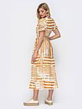 Літнє плаття в смужку і рукавом ліхтарик, фото 3