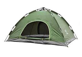 Автоматическая палатка 2-х местная туристическая зеленый