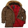 Зимняя куртка аляска Alpha Industries Slim Fit N-3B Parka MJN31210C1 (Brown/Red)