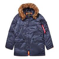 Зимова куртка аляска Alpha Industries Slim Fit N-3B Parka MJN31210C1 (Steel Blue)
