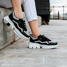 Женские кроссовки (Черный с серым)