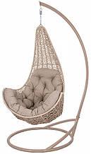 Підвісне садове крісло гойдалка кокон крапля куля плетене з ротанга Українські Конструкції Леді / Ledi