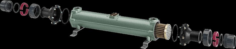 Bowman FC100-5114-2S 100 кВт трубчатый теплообменник , фото 3