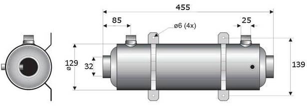 Pahlen Hi-Flow Titan 40 кВт спиральный титановый теплообменник , фото 3