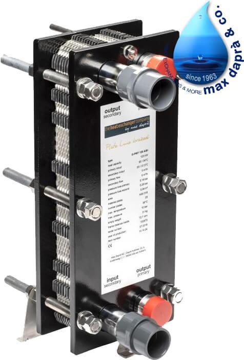 Maxdapra X-PWT 419-VA 135 кВт пластинчатый теплообменник для бассейна