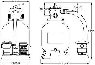 Tebas Saturn Standard 485 фильтрационная установка для бассейна 10 м3 в час, фото 2