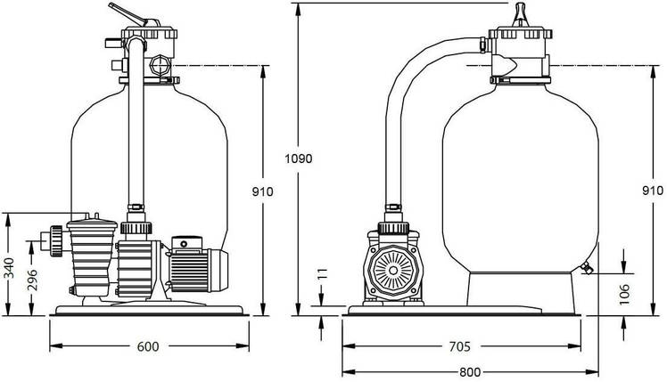 Pentair Water 6 м3/ч 0,25 кВт SW10 фильтрационная установка для бассейнов  , фото 2