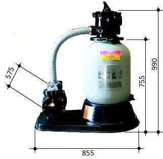 Gemaş IKARUS 500 10 м3/час 0,56 кВт фильтрационная установка для бассейнов , фото 2
