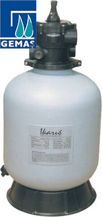 Gemaş IKARUS PE 450 8 м3/час песчаный фильтр для бассейна полиэтиленовый корпус, фото 2