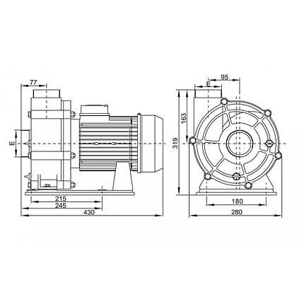 Насос Emaux AFS55 (380В, 90 м3/ч, 5.5HP), фото 2