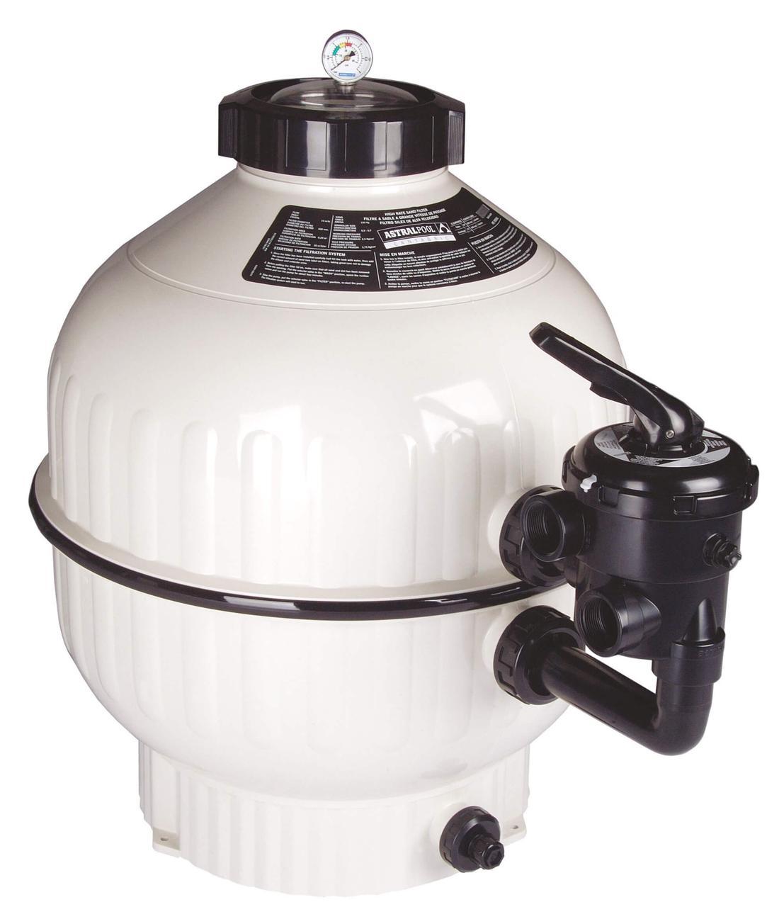 Astral Cantabric D500 мм, 9 м3/ч песочный фильтр с боковым подключением