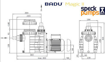 Speck BADU Magic 11 м3/час насос для бассейна, фото 3