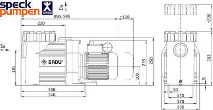 Speck BADU Prime 20М - 20 м3/час насос для бассейна, фото 3