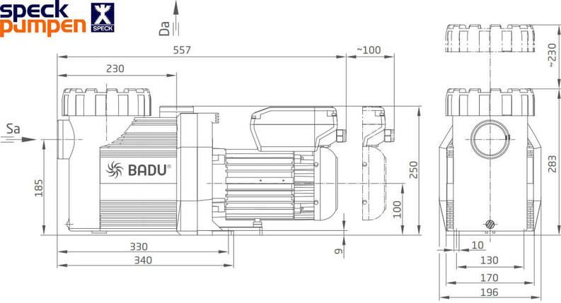 Speck BADU Prime Eco VS 28 м3/час насос для бассейна, фото 2