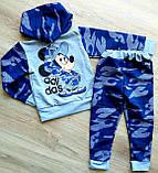 Детский спортивный костюм кофта и штаны Adidas Mickey Mouse камуфляж, фото 3