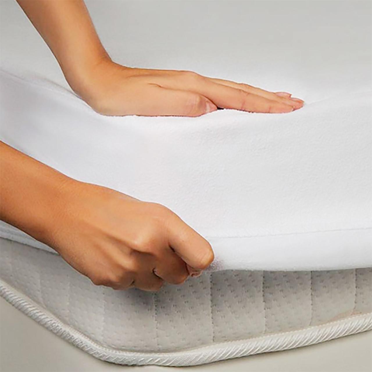 Водонепроницаемая простынь на резинке 140х200 белый