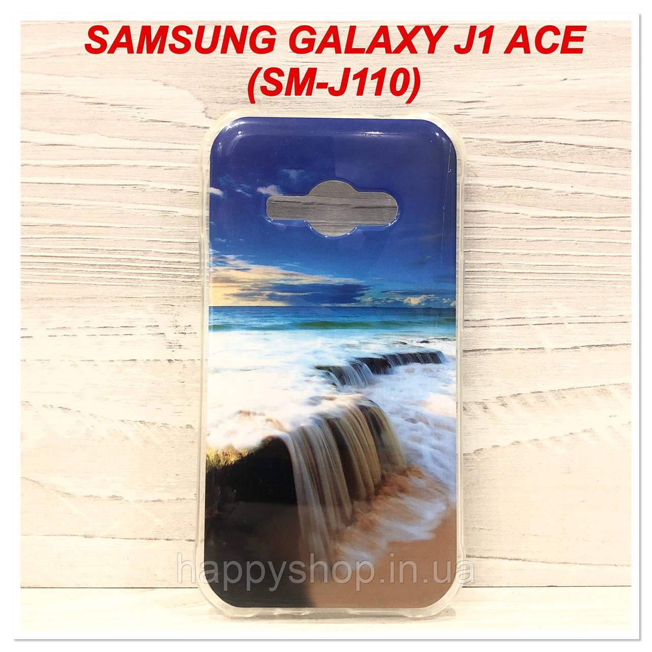Силиконовый чехол с рисунком для Samsung Galaxy J1 Ace (SM-J110) Waterfall