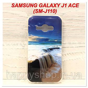 Силиконовый чехол с рисунком для Samsung Galaxy J1 Ace (SM-J110) Waterfall, фото 2