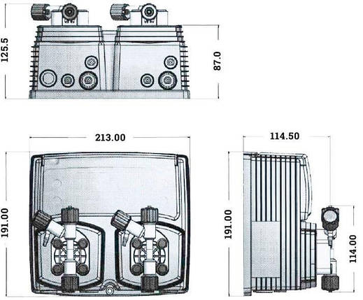 Emec WDPHCL0310 pH и Cl 10 л/ч автоматическая станция дозирования , фото 2