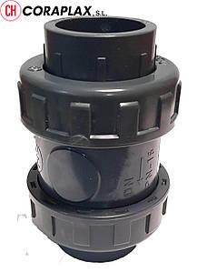 Обратный клапан ПВХ Coraplax пружинный d 75