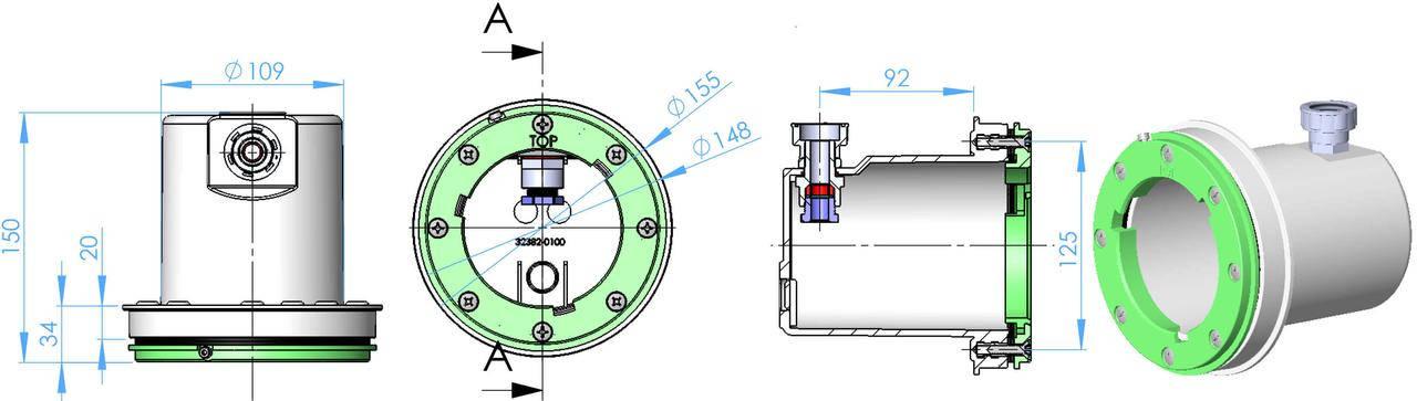 Astral LumiPlus Mini ниша для мини прожекторов под пленку, фото 2